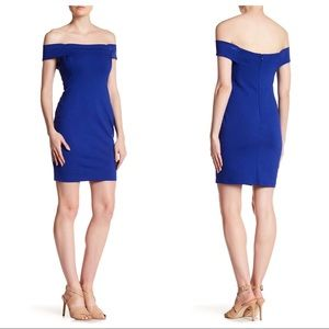 CYNTHIA STEFFE Margot off the shoulder dress blue